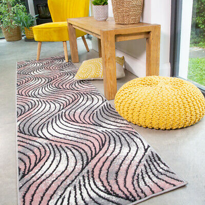 Jazzy Blush Pink Runner Rug Small Large Rugs For Living Room Soft Hall Runners • 14.95£