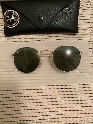 AU70 • Buy NEW Ray-Ban Round Metal Sunglasses Gold Frame G-15 Green Lens 50mm RRP$120