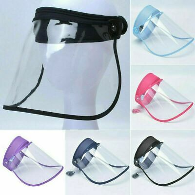 Face Shield Full Face Visor Protection Mask PPE Shield Clear Plastic Transparent • 6.99£