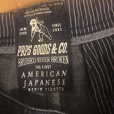 PRPS Goods&Co Cargo JEANS MADE IN JAPAN W40 *JEANS FOR BOOSTERS* {7} • 57.89£