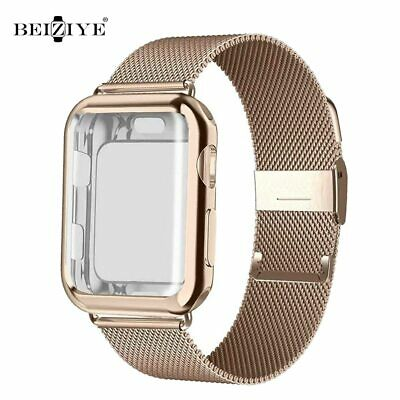 AU12.65 • Buy Milanese Loop Band With Case For Apple Watch Series 6 SE 5 4 40mm 44mm 38mm