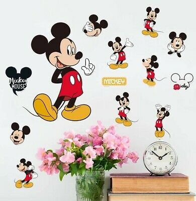 Disney Mickey Mouse Stickers A4 Sheet Childrens Bedroom Cartoon Wall Sticker  • 3.95£