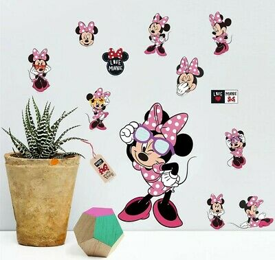 Disney Minnie Mouse Stickers A4 Sheet Childrens Bedroom Cartoon Wall Sticker  • 3.95£