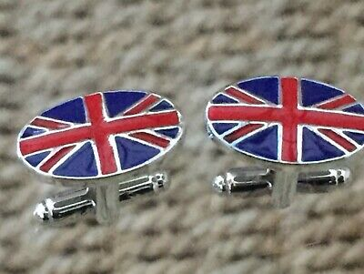 Union Jack / Uk Novelty Cufflinks. Nice Men's / Women's Gift. Free Pouch • 3.99£