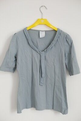 Next Baby Blue Tie Top T-shirt Short Sleeved Size 16 Cotton • 2£
