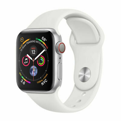 $ CDN460.05 • Buy Apple Watch Series 4 44 Mm Silver Aluminum Case With White Sport Band (GPS +...