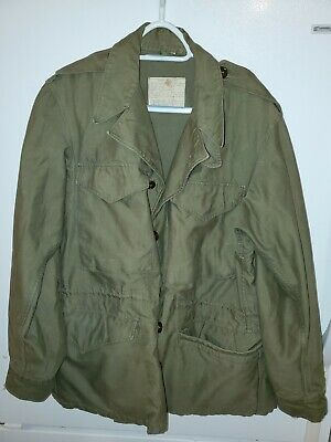 $180 • Buy US Military M43 Field Jacket M-1943 OD Green SIZE 34 R WWII Button Front