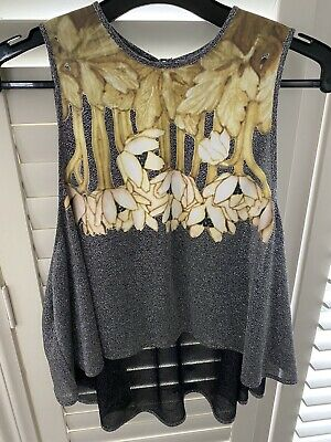 AU35 • Buy Alice Mccall Metallic Silver Swing Floral Top 10