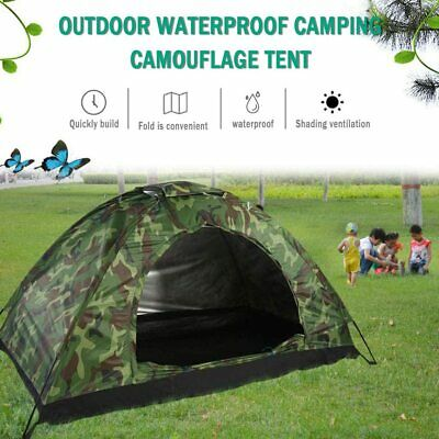 AU26.99 • Buy Instant Pop Up Camping Tents For 2 Person Family, Sun Shelter Tents Quick Set Up