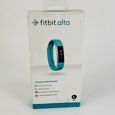 $ CDN93.79 • Buy Fitbit Alta Fitness Tracker Teal Size Large Interchangeable Band New Sealed