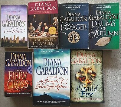 AU44.95 • Buy DIANA GABALDON - 6 BOOKS - OUTLANDER SERIES Cross Stitch, Voyager, Drums, Fiery