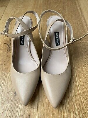 AU25 • Buy Strappy Nude Nine West Pumps 7.5