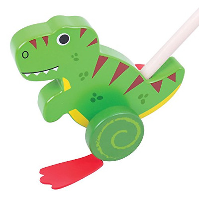 Bigjigs Toys Wooden T-Rex Push Along - Walking Toys For Babies And Toddlers • 17.11£