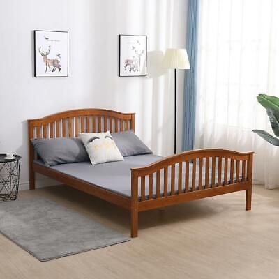 Pine Double Bed 4ft 6 With Headboard High Foot End Slatted Base Solid Wood • 119.99£