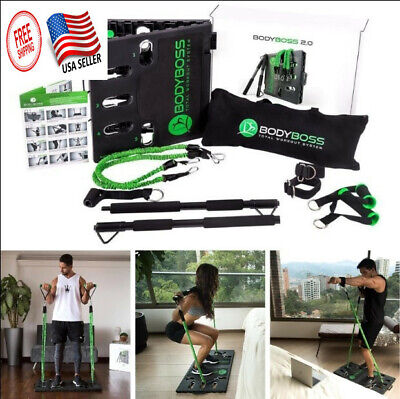 $ CDN132.27 • Buy BodyBoss 2.0 - Full Portable Home Gym Resistance Bands Workout Package 4 Bands