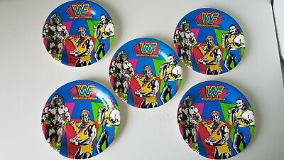 WWF 1991 Party Plates X5, Hulk Hogan, Ultimate Warrior, Jake Snake. WWE New 91 • 7.99£