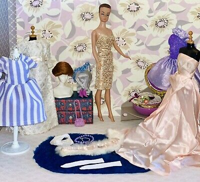 $ CDN51.64 • Buy Vintage Barbie Fashion Queen Doll Clothes & Accessories Lot
