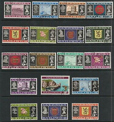 Guernsey 1969-1971 Selection Of Early Stamps To Five Shillings • 1£