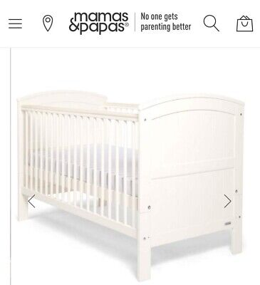 Mamas And Papas Haworth Ivory Cotbed, Cot Top Changer & Mattress Only Used Once • 65£