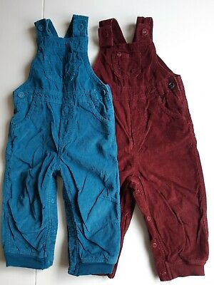 Baby Girl Boy Cord Dungarees M&S 12-18 Months • 5£
