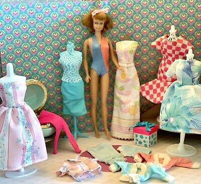 $ CDN46.67 • Buy Vintage Barbie Doll & Clothes With Accessories Lot