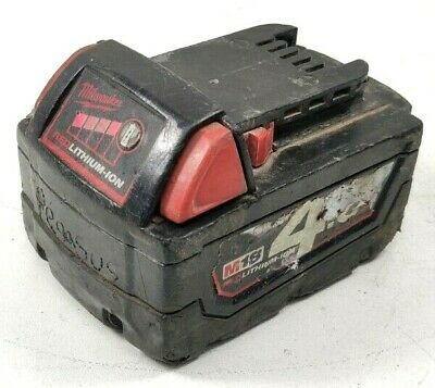 AU35 • Buy Milwaukee 18V M18 4.0Ah Red Lithium-Ion Battery With Guage - M18B4 - From $1.00
