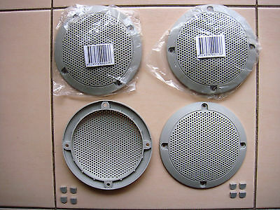 AU19.95 • Buy 4 Inch GREY Speaker Grills With Screw Covers Set Of 4 !BARGAIN PRICE - MUST GO!