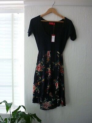 AU45 • Buy Tigerlily Sauma Dress Beautiful Floral Knit Top Flowing Skirt 10 New With Tags