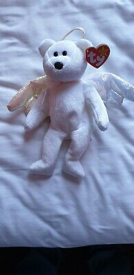 "Ty Beanie Baby Halo Angel Bear 31 August 1998 Retired ""rare"" Soft Kids Toy • 250£"