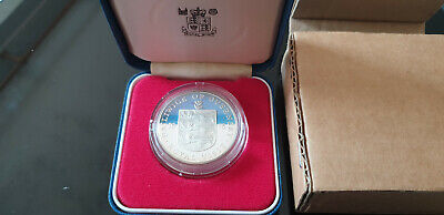 Royal Mint Bailiwick Of Guernsey Royal Visit 1978 Silverproof 25p Crown +Box • 5.50£
