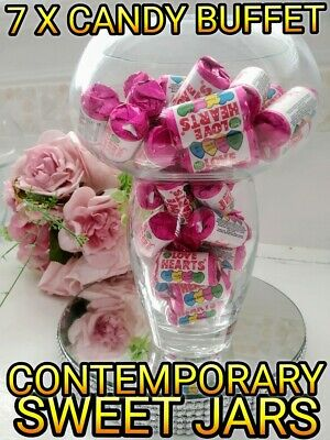 Contemporary Job Lot Wholesale 7 X Candy Buffet Jars Rare Easy To Use  • 20£