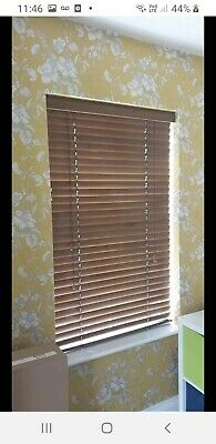 14 Wooden Venetian Blinds Dark Brown With Pull Cords And All Fitting Accessories • 125£
