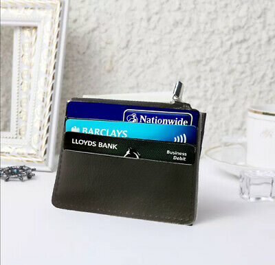 £3.99 • Buy Genuine Leather Bus Pass Travel Card Holder/Driving License Oyster Card Wallet