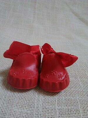 Vintage Cinderella Doll Shoes Red Booties Size No 0 M Ex Shop Stock  • 6.95£