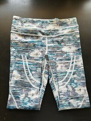 $ CDN15.15 • Buy Lululemon Run Inspire Crop Ll Pant Luxtreme Blurry Belle Multi EUC Sz 6