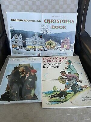 $ CDN66.66 • Buy Lot Of 3 Norman Rockwell  Books HOW I MAKE A PICTURE, CHRISTMAS BOOK,RETRO