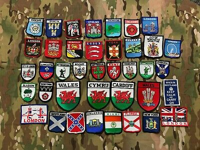 £6.99 • Buy County Town City Morale Patch With Official Velcro® Backing Novelty Badge Pin