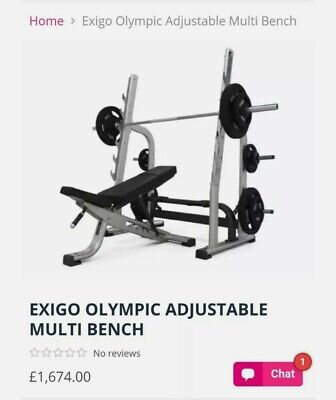 Olympic Squat Rack With Adjustable Multi Bench - Bench Press With Spotter Stand • 750£