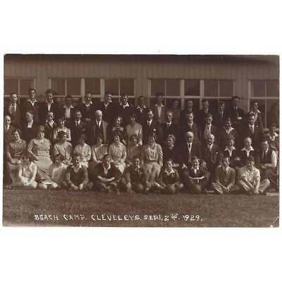 £5.95 • Buy CLEVELEYS Holiday Makers At Beach Camp Sept 2nd 1929, RP Postcard Unused