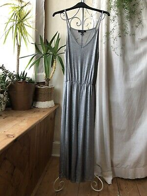 Atmosphere Silver Strappy Long Jumpsuit Playsuit • 2£