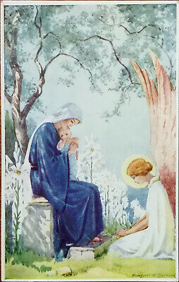 Christ Was Born Among The Lilies By Margaret W. Tarrant, Medici Society Postcard • 3.75£