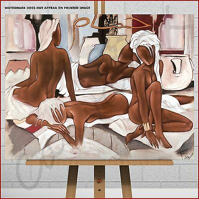 £26.95 • Buy Pierre Farel Abstract Canvas Print Picture Black African Women Bedroom Wall Art
