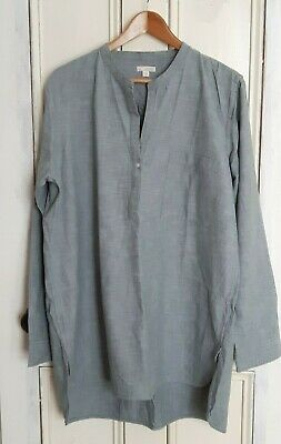 GAP Blue/light Grey 100% Cotton Tunic Shirt Tall XL (suit Long Tall Sally) • 4.99£