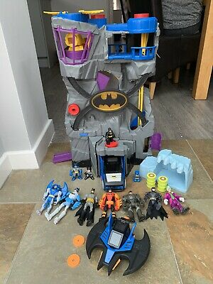 Large Fisher Price Imaginext Batman Cave With Figures, Vehicles Playset Bundle • 10.50£