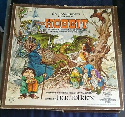 $45.99 • Buy 1977 The Hobbit Soundtrack,  Rankin/bass, 3 Vista Records, Book, Poster, Tolkien