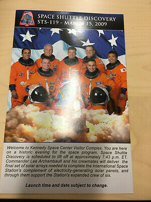 NASA Space Shuttle STS-119 Launch Day Programme A5 Glossy Gatefold • 5£
