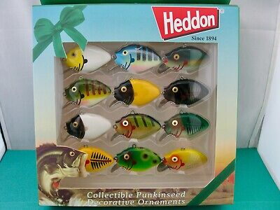 $ CDN11.33 • Buy Limited Heddon Collectible Set Of 12 Punkinseed Ornaments 2nd Edition Unused/box
