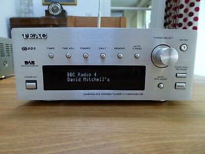 TEAC T-H300 DAB MKIII DAB FM AM Tuner, Silver, Excellent Condition • 31£