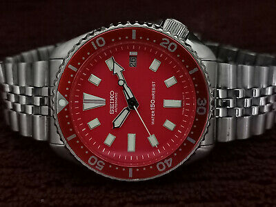 $ CDN40 • Buy Vintage Red Face Modded Seiko Diver 7002-700j Automatic Men's Watch 530256