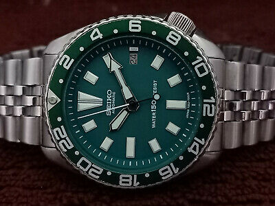 $ CDN44 • Buy Vintage Green Face Modded Seiko Diver 7002-7000 Automatic Men's Watch Sn 170761